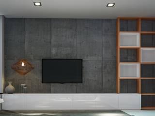 Sala de estar casa Goiânia:   por Habitá Arquitetura