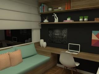 Рабочий кабинет в стиле модерн от Carolina Mendonça Projetos de Arquitetura e Interiores LTDA Модерн
