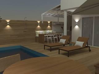 Piscinas de estilo  por Carolina Mendonça Projetos de Arquitetura e Interiores LTDA, Moderno