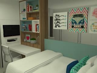 Спальня в стиле модерн от Carolina Mendonça Projetos de Arquitetura e Interiores LTDA Модерн