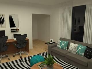 Гостиная в стиле модерн от Carolina Mendonça Projetos de Arquitetura e Interiores LTDA Модерн