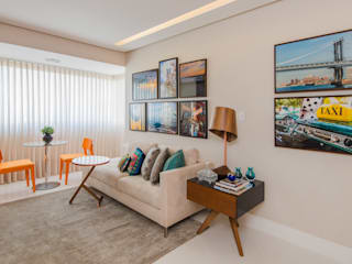 Livings modernos: Ideas, imágenes y decoración de Escritório de Arquitetura e Interiores Janete Chaoui Moderno