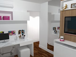 Carolina Mendonça Projetos de Arquitetura e Interiores LTDA Nursery/kid's room