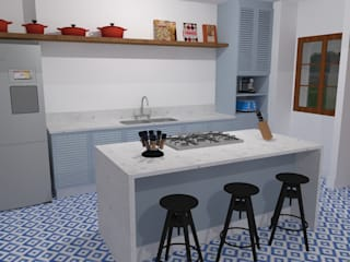 Modern kitchen by Carolina Mendonça Projetos de Arquitetura e Interiores LTDA Modern