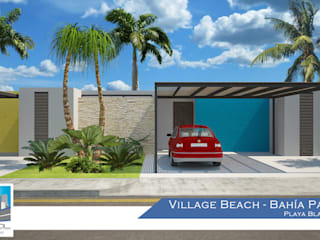 Casas de estilo tropical de Constructora Asvial - Desarrollador Inmobiliario Tropical