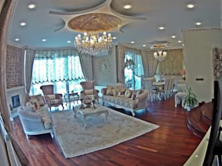 Modern Villa Modern Oturma Odası Damla SABUNCU Modern