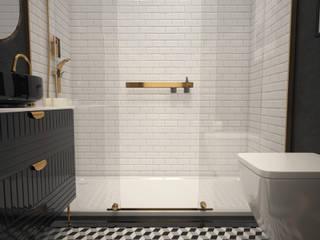 Boraevgar Scandinavian style bathroom Ceramic White