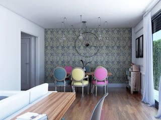 Infografías 3d para vivienda unifamiliar Salones de estilo clásico de A3D INFOGRAFIA Clásico