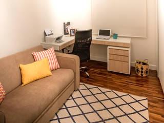 Decoração e Móveis de Apartamento estilo Clássico de 290m2 nos Jardins Escritórios minimalistas por Lnormand Interiores Minimalista