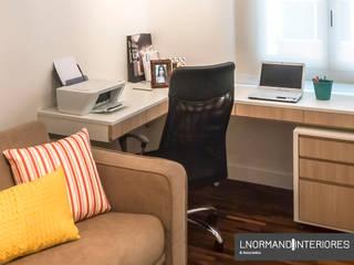 Decoração e Móveis de Apartamento estilo Clássico de 290m2 nos Jardins Escritórios modernos por Lnormand Interiores Moderno
