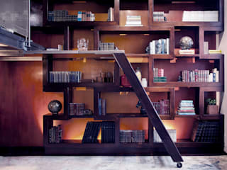 Brooklyn Loft - Custom Bookcase:  Study/office by Joe Ginsberg