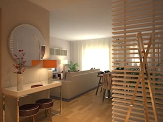 LIVINGROOM Corredores, halls e escadas modernos por Red Centre - Interiors Harmony, by Design Moderno