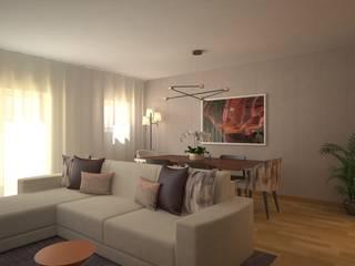 LIVINGROOM: Salas de estar modernas por Red Centre - Design & Feng Shui