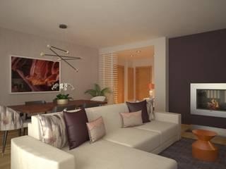 LIVINGROOM Salas de estar modernas por Red Centre - Interiors Harmony, by Design Moderno