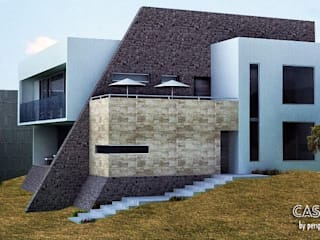 Eclectic style houses by Perspectiva Arquitectos México Eclectic
