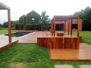 VIER ABINET S.A. Pisos & Decks Jardines de estilo moderno Madera Acabado en madera