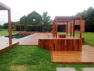 VIER ABINET S.A. Pisos & Decks Jardin moderne Bois Effet bois