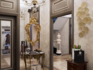 Classic style corridor, hallway and stairs by ЙОХ architects Classic
