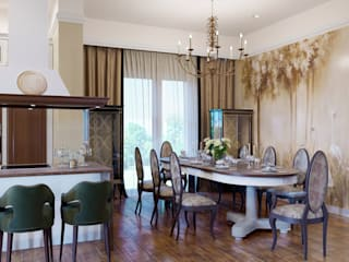 Classic style dining room by ЙОХ architects Classic