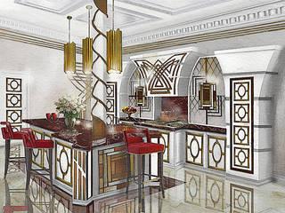 Эскиз кухни в Стиле Ар-Деко:  в . Автор – Геометрия Вкуса