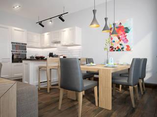 townhouse in scandinavian style: scandinavian Kitchen by design studio by Mariya Rubleva