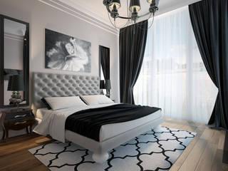 townhouse in modern style Modern Bedroom by Rubleva Design Modern