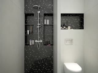 townhouse in modern style: modern Bathroom by design studio by Mariya Rubleva