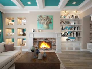 Phòng khách by design studio by Mariya Rubleva