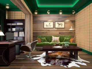Studio moderno di Rubleva Design Moderno