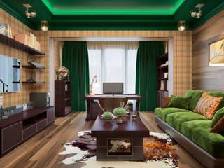 مكتب عمل أو دراسة تنفيذ design studio by Mariya Rubleva