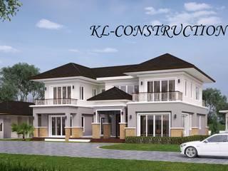 ผลงานสร้างบ้านพักอาศัย 2 ชั้น Contemporary Style by KL-Cons. โดย บริษัท เค.แอล.คอนสตรัคชั่น แอนด์ ซัพพลาย จำกัด ทรอปิคอล