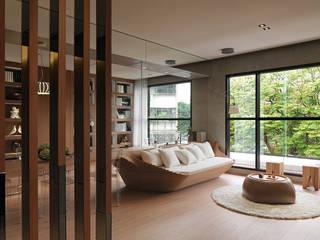Reunite 现代客厅設計點子、靈感 & 圖片 根據 形構設計 Morpho-Design 現代風