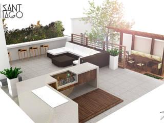 Terrasse von SANT1AGO arquitectura y diseño, Minimalistisch