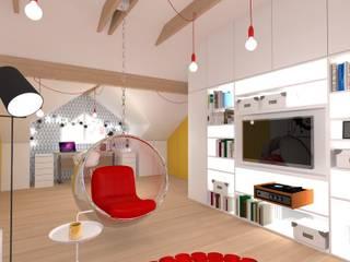 Salle multimédia moderne par Urbanowicz Studio Architektury Moderne
