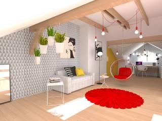 Salon moderne par Urbanowicz Studio Architektury Moderne