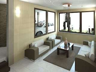 Vista interna de la sala:  de estilo  por Diseño Store