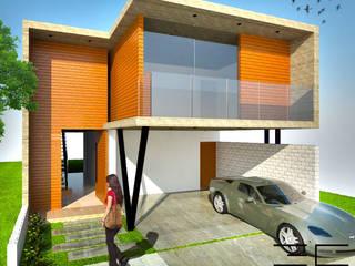 Casa RS [León, Gto] 3C Arquitectos S.A. de C.V. Casas modernas Concreto Acabado en madera