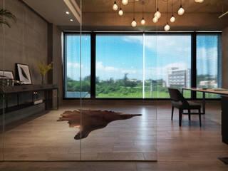 インダストリアルデザインの 書斎 の 夏沐森山設計整合 インダストリアル