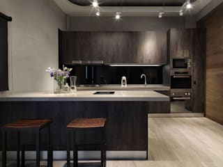 Industrial style kitchen by 夏沐森山設計整合 Industrial