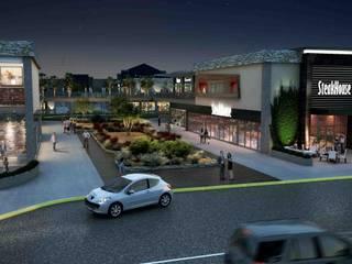 Plaza Comercial Cuatro Caminos: Centros Comerciales de estilo  por Segovia ARQ