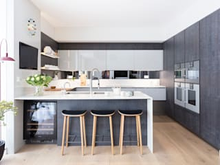 Modern New Home in Hampstead Black and Milk | Interior Design | London Modern dining room
