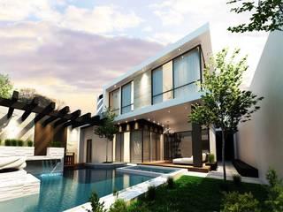 Proyecto ASE 5a Jardines modernos de Mstudio Arquitectura+Construccion Moderno