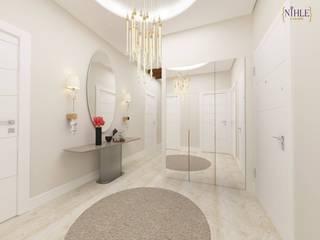 Pasillos, vestíbulos y escaleras de estilo moderno de nihle iç mimarlık Moderno