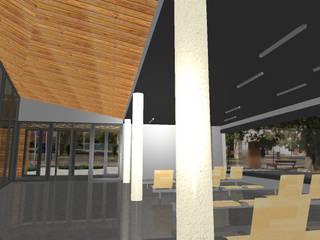 ESTACION AUTOBUSES BEMBIBRE Centros comerciales de estilo moderno de AmasU Arquitectos Moderno