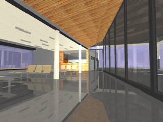 ESTACION AUTOBUSES BEMBIBRE Espacios comerciales de estilo moderno de AmasU Arquitectos Moderno