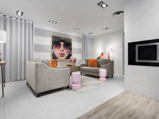 Urban Glam House: Salas de estar  por ÀS DUAS POR TRÊS,Moderno