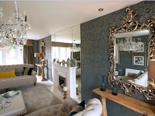 Compliment your decor by creating a focal point in your home with artwork & mirrors or adding a personal touch to your rooms with accessories & soft furnishings.....:  Living room by Graeme Fuller Design Ltd