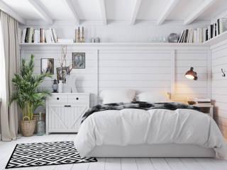 Scandinavian style bedroom by Home in the Woods Scandinavian Wood Wood effect