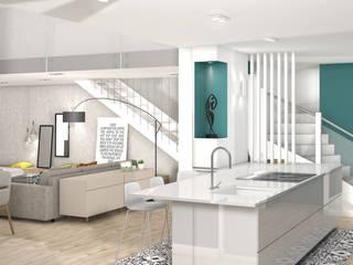 Camille BASSE, Architecte d'intérieur 現代廚房設計點子、靈感&圖片