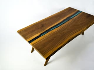 Resin river coffee table:   by Frances Bradley